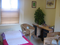 Treatment Room first Richard Metcalf Osteopathy in Sheffield Walkley