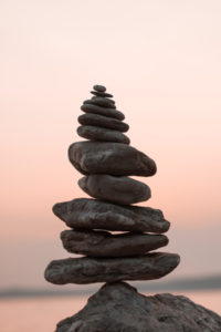 Stacked pebbles Richard Metcalf Osteopathy in Sheffield Walkley